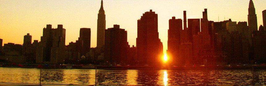 Le manhattanhenge voir le plus beau coucher de soleil ny - Coucher du soleil new york ...